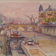 Arte: ACUARELA DE PEPE ANTEQUERA. (PARIS 1998). Lote 90361748