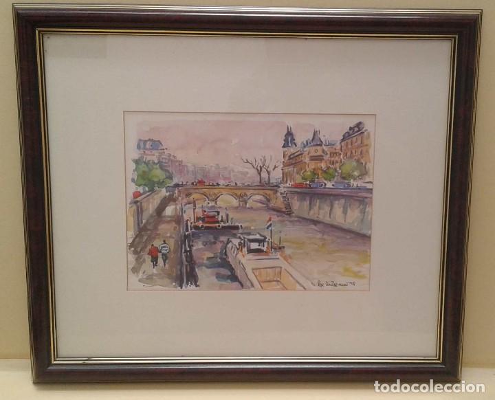 Arte: Acuarela de Pepe Antequera. (Paris 1998) - Foto 2 - 90361748