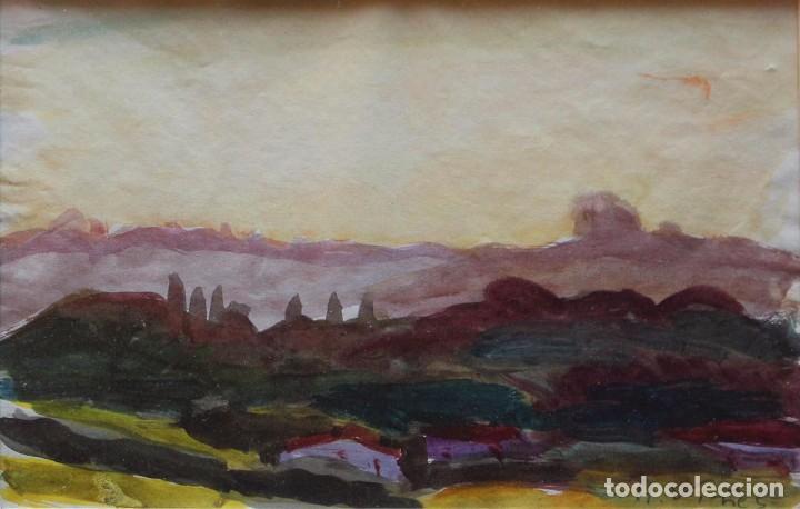 HERNANDO VIÑES. ACUARELA SOBRE PAPEL. (Arte - Acuarelas - Contemporáneas siglo XX)