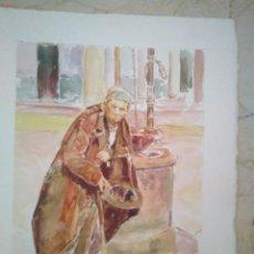 ACUARELA DEL RECONOCIDO PINTOR RACHID HANBALI . 31 x 41 cm.