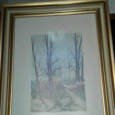 Arte: ACUARELA ORIGINAL DE JORDI GENDRA - PAISATGE DE TARDOR. Lote 90723805