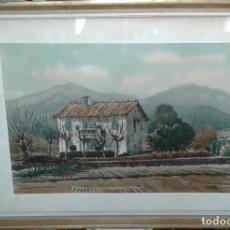 Arte: ACUARELA ORIGINAL DE JORDI GENDRA - CASA DE GUALBA. Lote 90724175