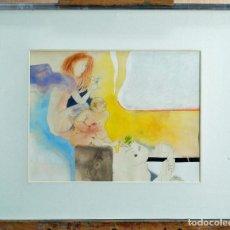 Arte: ACUARELA ESCENA ERÓTICA SANTOS DÍAZ MARTÍN (MADRID 1937). Lote 90729745