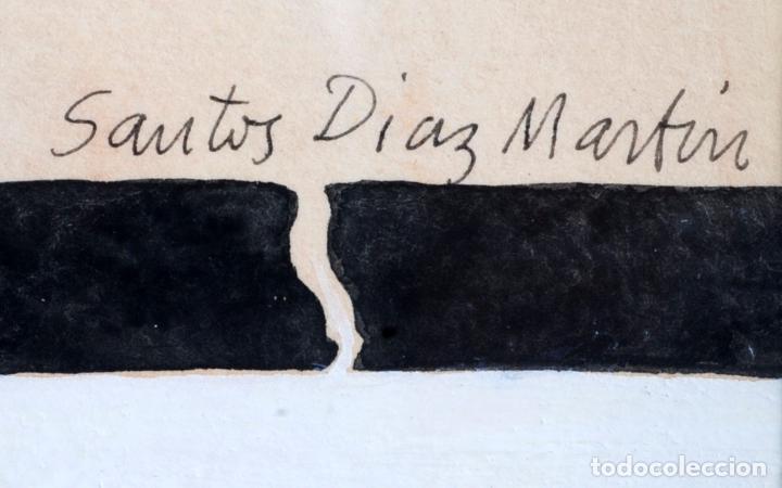 Arte: Acuarela escena erótica Santos Díaz Martín (Madrid 1937) - Foto 5 - 90729745
