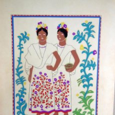 Arte: MEJICANAS (GRUPOS ETNICOS MEXICANOS) DE CARLOS MERIDA. Lote 91427240
