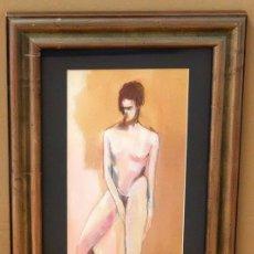 Arte: OLGA FIGUEROLA (BARCELONA, 1963) DIBUJO ACUARELADO. DESNUDO FECHADO DEL AÑO 1988. Lote 91691745