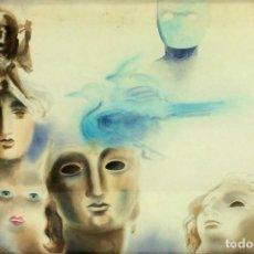 Arte: COMPOSICIÓN. ACUARELA SOBRE PAPEL. SIN FIRMA. ESPAÑA. CIRCA 1980. Lote 92120840