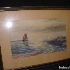Arte: ACUARELA-MARINA. Lote 93064595