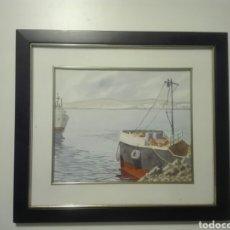 Arte: ACUARELA DEL PINTOR JUAN GUILLERMO MANRIQUE. Lote 93199377