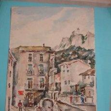 Arte: GIRONA PLAZA DE SAMPERE 1940 JOSEP POU CODINA - PORTAL DEL COL·LECCIONISTA *****. Lote 93367895