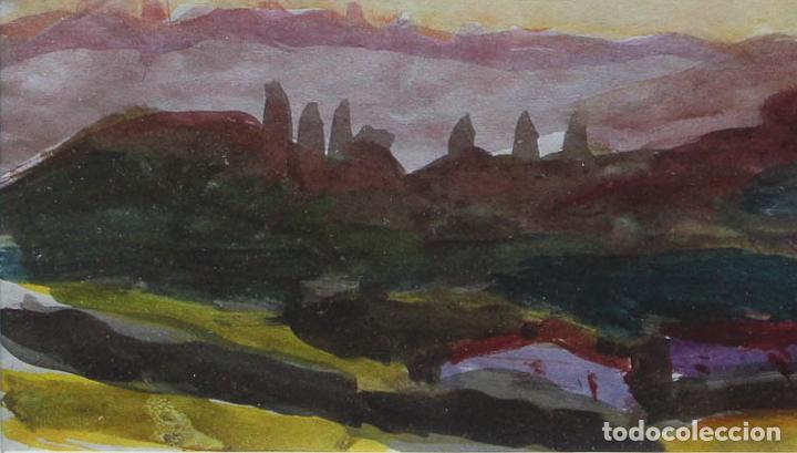 Arte: HERNANDO VIÑES. Acuarela sobre papel. - Foto 2 - 90426354