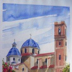 Arte: ACUARELA DE ALTEA FIRMADA . Lote 93609025