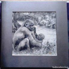 Arte: RAMONA GIMENEZ ROY (MANRESA) - ACUARELA EMMARCADA ACERO 29 X 29. Lote 93669750