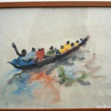 Arte: REPRODUCCIÓN ACUARELA MIQUEL BARCELÓ. CUADERNOS DE ÁFRICA, MARCO DE BUENA CALIDAD.. Lote 93712635