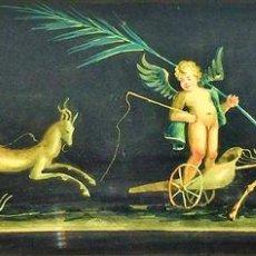 Arte: PAREJA DE REPRODUCCIONES EN ACUARELA DE FRESCOS POMPEYANOS. FIRMADOS. ITALIA. XIX-XX. Lote 94021140