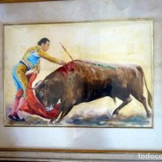 Arte: MAGNÍFICA ACUARELA TORERO ANTONIO ORDÓÑEZ FIRMADA. Lote 94510362