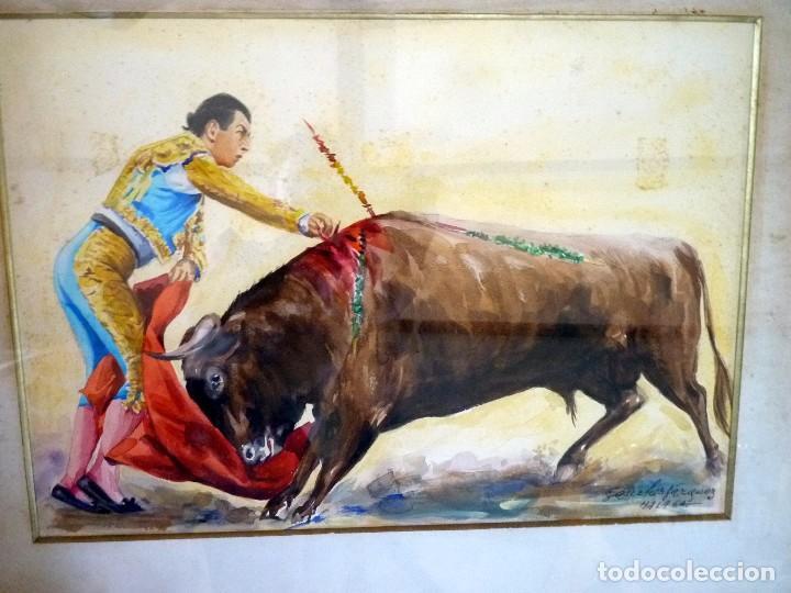 Arte: MAGNÍFICA ACUARELA TORERO ANTONIO ORDÓÑEZ FIRMADA - Foto 2 - 94510362