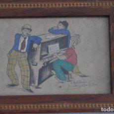 Arte: DIBUJO SOBRE PAPEL , CARICATURA FIRMADA Y FECHADA EN 1940 POR ESTEBANEZ. Lote 94627695