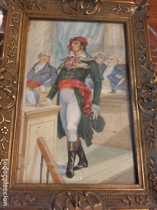 REVOLUCIONARIO FRANCES PINTADO GUACHE (Arte - Acuarelas - Modernas siglo XIX)