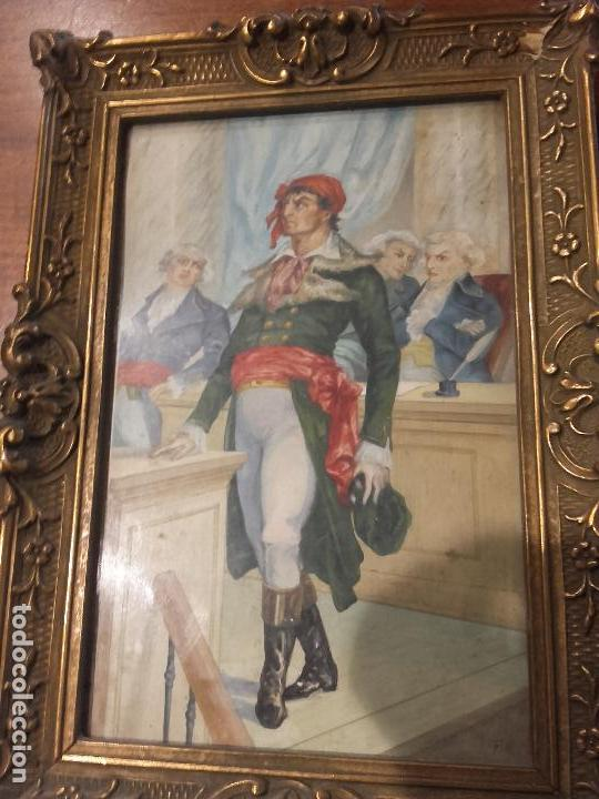 Arte: Revolucionario frances pintado guache - Foto 2 - 94782415