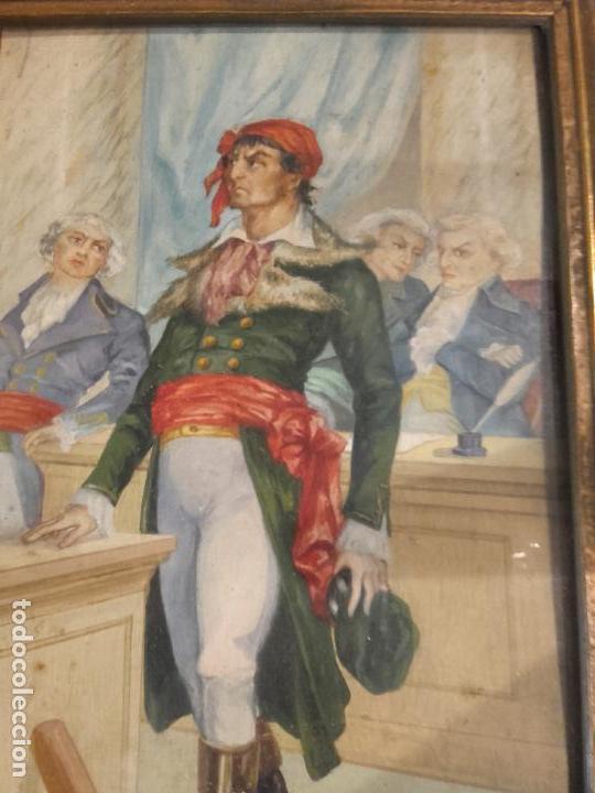 Arte: Revolucionario frances pintado guache - Foto 3 - 94782415