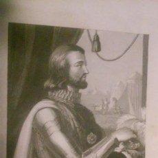 Arte: JUAN I. REY DE CASTILLA Y DE LEÓN. GRABADO 1853. Lote 95368531