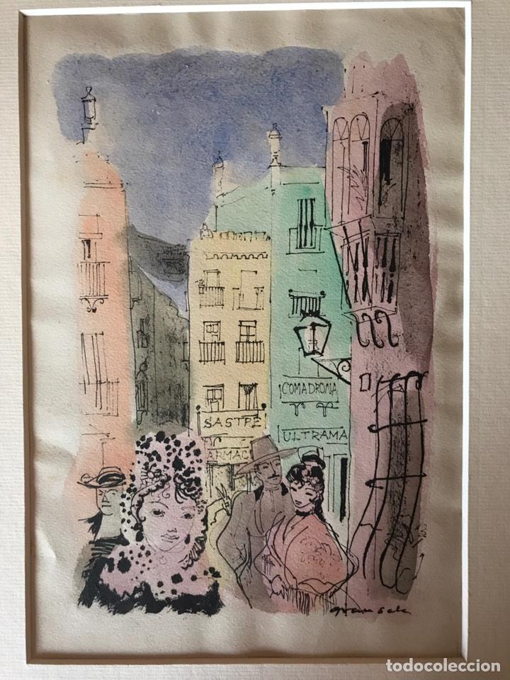 ACUARELA DE EMILI GRAU SALA (Arte - Acuarelas - Contemporáneas siglo XX)