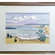Arte: YVES BRAYER (1907–1990) L´ETANG DE VACCARÉS ACUARELA FRANCESA. Lote 95610399