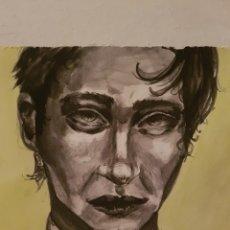 Arte: ACUARELA SOBRE PAPEL, RETRATO DE HOMBRE, FIRMADO.. Lote 95711752