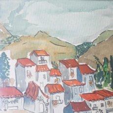 Arte: PAISAJE ACUARELA, YA ENMARCADO, PERFECTO ESTADO. Lote 95728467