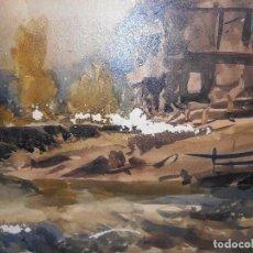 Arte: ACUARELA CEFERINO OLIVÉ - REUS 1965 - PAISAJE - DEFECTUOSA. Lote 95737071