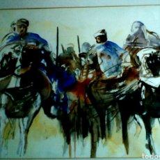 Arte: A VERY PROFESSIONAL MADE WATERCOLOR ARABIC SCENE BY DUTCH ARTIST TINEKE BOERS 2002. Lote 95889478
