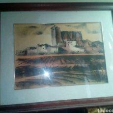 Arte: CUADRO PINTURA MIXTA FIRMADO,ARTISTA VAQUERO. Lote 95958819