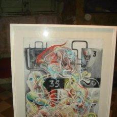 Arte: ORIGINAL OBRA DE KAJUMA. TECNICA GUACHE. 64 X 50CM. FIRMADO. ENMARCADO. 1977.. Lote 96090451