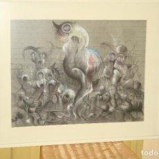 Arte: ORIGINAL OBRA DE KAJUMA. TECNICA DIBUJO. 50 X 64CM. FIRMADO. ENMARCADO. 1977.. Lote 96091059