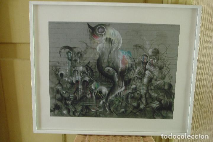 Arte: ORIGINAL OBRA DE KAJUMA. TECNICA DIBUJO. 50 X 64CM. FIRMADO. ENMARCADO. 1977. - Foto 2 - 96091059
