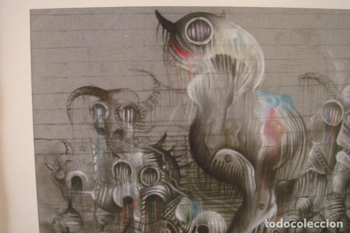 Arte: ORIGINAL OBRA DE KAJUMA. TECNICA DIBUJO. 50 X 64CM. FIRMADO. ENMARCADO. 1977. - Foto 3 - 96091059