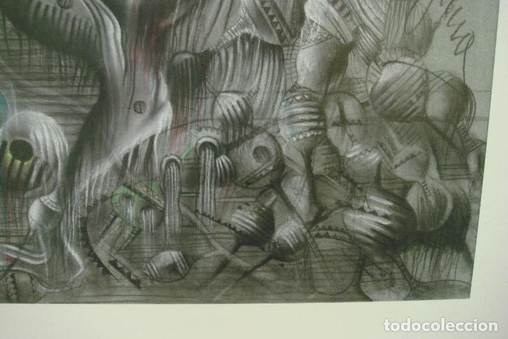 Arte: ORIGINAL OBRA DE KAJUMA. TECNICA DIBUJO. 50 X 64CM. FIRMADO. ENMARCADO. 1977. - Foto 4 - 96091059