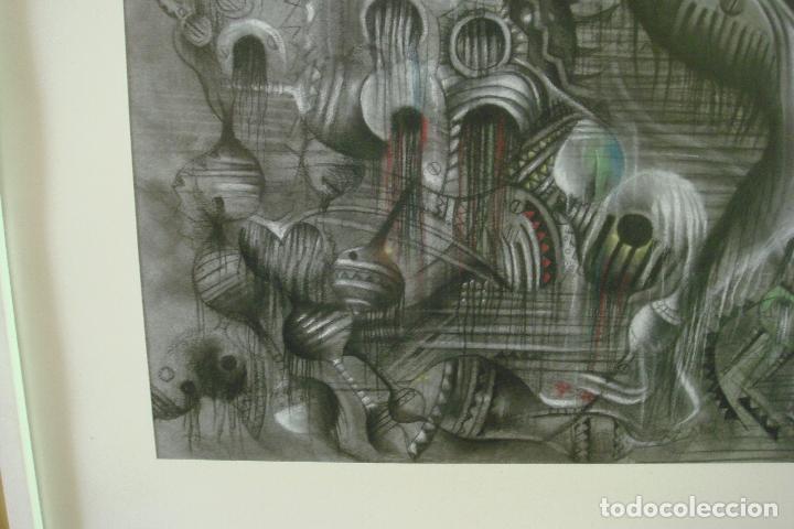 Arte: ORIGINAL OBRA DE KAJUMA. TECNICA DIBUJO. 50 X 64CM. FIRMADO. ENMARCADO. 1977. - Foto 5 - 96091059