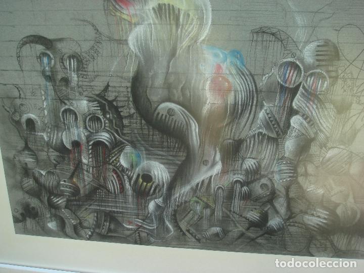 Arte: ORIGINAL OBRA DE KAJUMA. TECNICA DIBUJO. 50 X 64CM. FIRMADO. ENMARCADO. 1977. - Foto 6 - 96091059