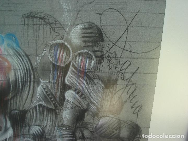 Arte: ORIGINAL OBRA DE KAJUMA. TECNICA DIBUJO. 50 X 64CM. FIRMADO. ENMARCADO. 1977. - Foto 7 - 96091059