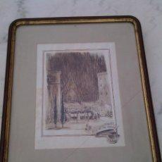 Arte: BARTOMEU TRIAS PEITX (1914-?). FIRA DE STA. LLÚCIA, 1949. TINTA SEPIA Y ACUARELA. FIRMADA.. Lote 96276243