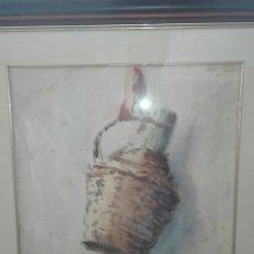 Arte: ACUARELA DEL PINTOR CANARIO MANOLO-MANUEL LEZCANO.. Lote 96366266
