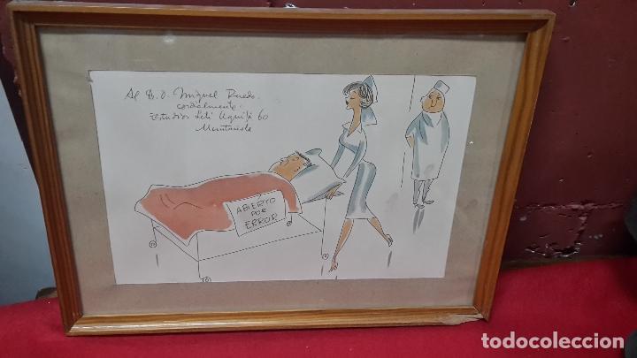 ACUARELA DE JOAQIM MUNTAÑOLA (Arte - Acuarelas - Contemporáneas siglo XX)
