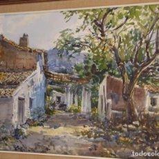 """Arte: ACUARELA DE V. PASTOR CALPENA (""""PORCHES DE ALTEA""""). Lote 97236631"""
