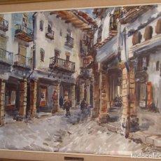 """Arte: ACUARELA DE V. PASTOR CALPENA (""""SOPORTALES DE MORELLA""""). Lote 97236915"""
