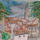 Arte: ACUARELA DE JOAN CARDONA AÑOS 40. Lote 97391363