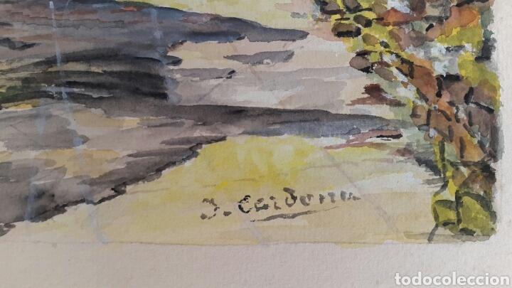 Arte: ACUARELA DE JOAN CARDONA AÑOS 40 - Foto 3 - 97392275