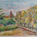 Arte: ACUARELA DE JOAN CARDONA AÑOS 40. Lote 97392842