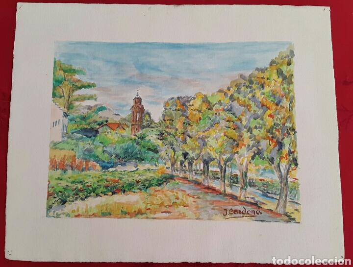 Arte: ACUARELA DE JOAN CARDONA AÑOS 40 - Foto 2 - 97392842